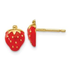 Jewelry - 14K Yellow Gold Strawberry Earrings